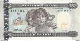 ERYTHREE 5 NAFKA 1997 UNC P 2 - Erythrée