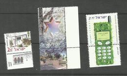 Israël N°1479, 1492, 1494 Neufs** Cote 5 Euros - Unused Stamps (with Tabs)