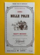 9795 - Belle Folie 1981 Haut-Médoc - Bordeaux