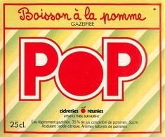 Ancienne Étiquette A1 BOISSON A LA POMME POP - Etiquettes