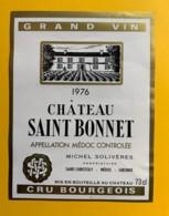 9808 - Château Saint-Bonnet  1976  Médoc - Bordeaux