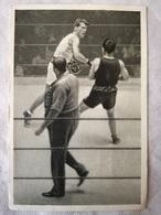 Foto Cromo Olimpiada De Los Ángeles. 1932. Nº 173. Boxeo, Bernlöhr, Alemania, Lowe, Australia. Hecho En 1936 - Tarjetas