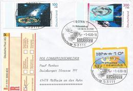 Germany 2000 Bonn World Expo Hannover Space Gamma Light Hologram Registered Cover - 2000 – Hanovre (Allemagne)