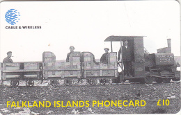 FALKLAND ISL.(chip) - Train, Camber Railway, Used - Falkland Islands