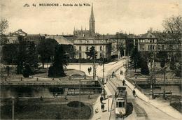 Mulhouse  Entrée De Ville Et Canal  Ed CAP Non Circulée - Mulhouse