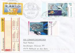 Germany 2000 Zwönitz Swan Zodiac Space Gamma Light Hologram Registered Cover - Hologrammen