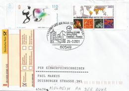 Germany 2001 Frankfurt Bernhard-Nocht Institute For Tropical Diseases Virus Bacteria EXPO 2000 Hannover Registered Cover - Enfermedades