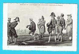 CPA Moeurs Et Coutumes De L'ancien Paris Les Joueurs De Boules , Pétanque - Pétanque