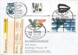 Germany 1999 Kiel Fledermaus Bat Documenta Kassel Art Registered Cover - Vleermuizen