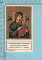 Salamone  - Gold Print,S. Maria De Perpetuo Sucrrsu + Priere Et Indulgence, Image Pieuse, Religieuse, Holy Card, Santini - Images Religieuses
