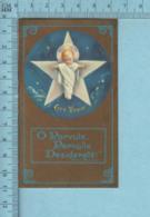 Sault Montreal - Gold Print, ECCE Venio, O Parvule Parvalis Desiderate-  Image Pieuse, Religieuse, Holy Card, Santini - Images Religieuses