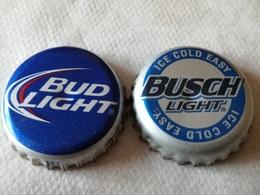 Lote 2 Chapas Kronkorken Caps Tappi Cerveza Anheuser Busch. Estados Unidos De América - Cerveza