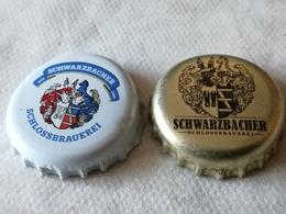 Lote 2 Chapas Kronkorken Caps Tappi Cerveza Schwarzbacher. Alemania - Cerveza