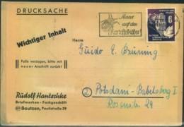 1952, Drucksache, KartoffelkäferstempelBAUTZEN - Non Classés