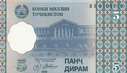 TADJIKISTAN 5 DRAM 1999 UNC P 11 - Tajikistan