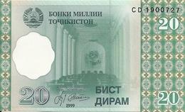 TADJIKISTAN 20 DRAM 1999 UNC P 12 - Tadjikistan