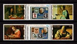 AITUTAKI   1979    Death  Centenary  Of  Sir  Rowland  Hill   2  Strips  Of  3       MNH - Aitutaki