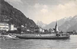 PENICHES - SUISSE ( URI ) FLÜELEN Mit BRISTENSTOCK : Péniche En Bon Plan - CPA - Barge Lastkähne Aken Chiatte Barcazas - Péniches