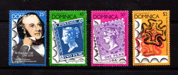 DOMINICA   1979    Death  Centenary  Of  Sir  Rowland  Hill   Set  Of  4       MNH - Dominica (1978-...)