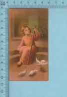 USA Isola - Gold Print, Jesus Enfant Avec Une Croix-  Image Pieuse, Religieuse, Holy Card, Santini - Images Religieuses