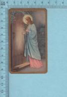 USA 2100 - Gold Print, Jesus Berger Frappant à Une Porte -  Image Pieuse, Religieuse, Holy Card, Santini - Images Religieuses