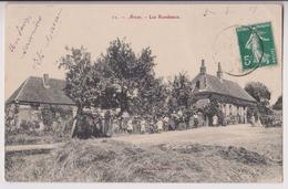 ARCES (89) : LES RONDEAUX  - HABITATIONS RURALES AU BORD D'UN CHEMIN DE CAMPAGNE - ECRITE EN 1908 - 2 SCANS - - Other Municipalities