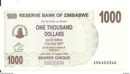 ZIMBABWE 1000 DOLLARS 2006 UNC P 44 - Zimbabwe