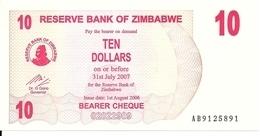 ZIMBABWE 10 DOLLARS 2006 UNC P 39 - Zimbabwe