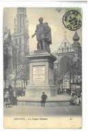 Belgio Anversa  La Statue Rubens Viaggiata 1908 Condizioni Come Da Scansione - Antwerpen