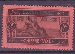 Grand Liban - Großlibanon - Greater Lebanon Taxe 1927 Y&T N°T19 - Michel N°(?) (o) - 3p Château De Belfort - Gran Libano (1924-1945)