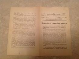 Discordes à L'extrême Gauche 1937 SFIO - Unclassified