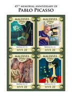 MALDIVES 2018 - P. Picasso: Blind Gitarist. Official Issue - Handicaps
