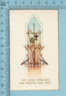 NB 5075 - Gold Print, Colombe Vigne Blé -  Image Pieuse, Religieuse, Holy Card, Santini - Images Religieuses