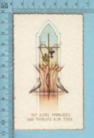 NB 5075 - Gold Print, Colombes Vigne Et Blé -  Image Pieuse, Religieuse, Holy Card, Santini - Images Religieuses