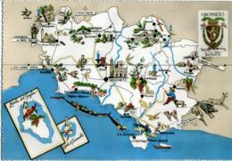 GROSSETO Provincia Geografica Scansano Saturnia Rosselle Vetulonia Magliano Manciano Pitigliano Seggiano Roccastrada - Carte Geografiche