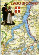 LAGO DI COMO Lario  Geografica E Costumi Tipici - Carte Geografiche