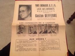 Élection Gaston Deferre SFIO - Historical Documents