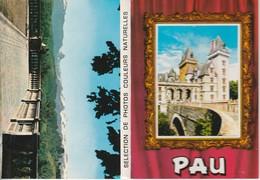 Pau Dépliant 10 Vues Petit Format - Pau