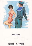 CPA Illustrateur Louis CARRIERE -  Marin Marine Nationale Femme Pin'up - Encore -- Jours à Faire - Carrière, Louis