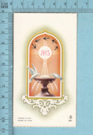 FB 9070 - Gold Print, Oiseaux Colombes, JHS -  Image Pieuse, Religieuse, Holy Card, Santini - Images Religieuses