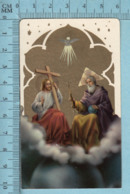 KCGO 27/104 Germany - Gold Print,  La Sainte Trinité -  Image Pieuse, Religieuse, Holy Card, Santini - Images Religieuses