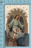 KCGO 27/47 Germany - Gold Print, Ange Gardien Et Enfant Au Lit -  Image Pieuse, Religieuse, Holy Card, Santini - Images Religieuses