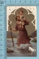 KCGO 27/47 Germany - Gold Print, Saint Christophe Portant Jésus -  Image Pieuse, Religieuse, Holy Card, Santini - Images Religieuses
