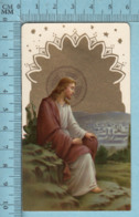 KCGO 27/56 Germany - Gold Print, Jésus Regardant Jérusalem -  Image Pieuse, Religieuse, Holy Card, Santini - Images Religieuses