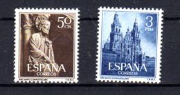 1954   Espagne, Année Sainte De Compostelle, 841 / 842**, Cote 85 €, - 1951-60 Ungebraucht