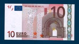 10  EURO - ALEMAGNE - Serie   X 30428657237   -   Codice Breve   P 009 F6 - Firma  TRICHET. - EURO