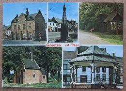 (K40) - Groeten Uit Peer / Huis Was-Creemers Markt 10  / Drukkerij Hendrik Kerkstr. 24 / Etat - Peer