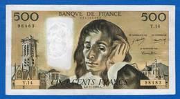 500  Fr Du 6/11/1969 - 1962-1997 ''Francs''