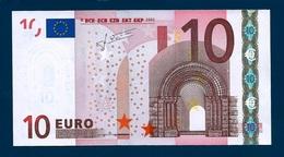 10  EURO -   FRANCIA   - Serie   U  05815747634  -   Codice Breve   L 031 E1  - Firma  TRICHET. - EURO