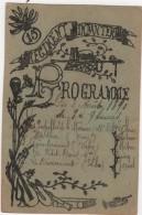 Carte Programme Spectacle 3 Août 1890 15 ème Régiment D'Infanterie - Militaria
